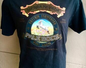 Sierra Nevada Pale Bock 1990s vintage tee shirt - faded black size medium