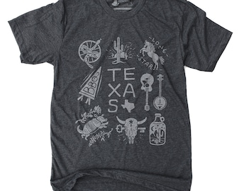 Texas Tee Shirt, Gift for Dad Ideas, Mens Gift, Graphic Tee- Texas shirt: