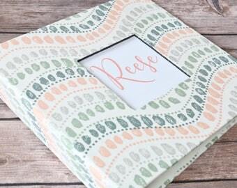 Baby Book, Baby Gift, Baby Album, Baby Memory Book, Baby Keepsake, Modern Baby Book, Jewel Sundown Print
