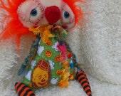 SALE- Otto a Handmade OOAK Art Doll Ratty Tatty Monster
