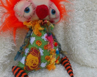 Otto a Handmade OOAK Art Doll Ratty Tatty Monster