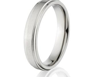 New 4mm Comfort Fit, Custom Titanium Ring-4RC