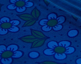 deep evening, cotton floral zip pouch or pencil case