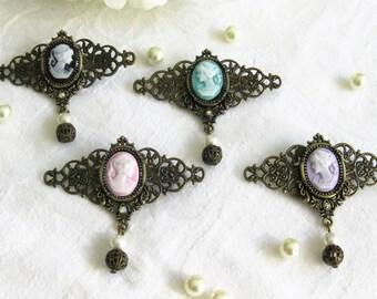 Cameo Jewelry, Cameo Brooch, Cameo, Victorian Brooch, Victorian Cameo, Victorian Costume, Handmade Jewelry,  P011, P012, P013, P014