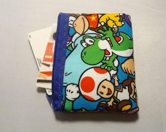 Super Mario  Fabric Coin Purse- Handmade  Nintendo- OOAK