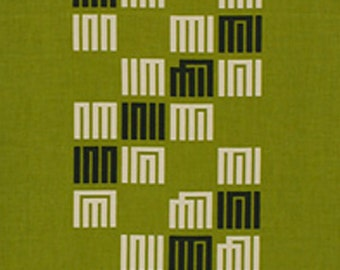 Japanese Tenugui Fabric, Geometric Traditional Design, Green, Hand Dyed Fabric, Home Decor, Wall Hanging Tapestry, Scarf, Gift Wrapping a173
