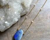 Opal Necklace, Opal Doublet Pendant, Opal Jewelry, Dainty Jewelry, Boho Luxe Jewelry