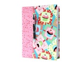 Composition notebook cover with option to personalize, notebook cover, fabric notebook cover, journal, teacher gifts - Cupcakes
