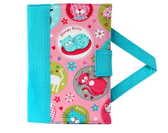 Kitty Cats Crayon Artist Case with option to add a name, Valentine gift, Crayon holder, Crayon wallet, Crayons and paper included