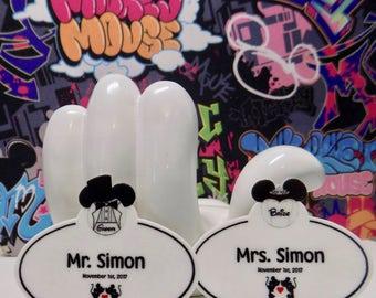 Custom Order Disney Bride or Disney Groom Lapel Name Tag Pins