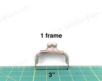 3x1.5 Nickel metal coin purse frame