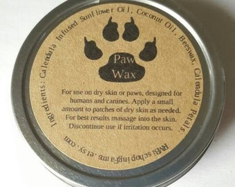Paw Wax, Paw Protectant, Dog Paw Wax Seal, Dog Paw Moisturizer, Calendula Dog Paw Wax, Natural Paw Protector, Dog Paws, Handmade Paw Wax