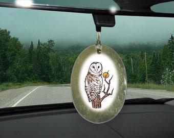 Barn Owl Totem Animal Car Charm, Holiday Ornament
