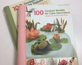 100 Fondant Cake Topper Books, Set of 2 - Learn to Make Cute Animal & Model Cake Toppers
