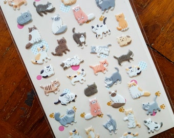 PUFFY Cat stickers, Kitten stickers, Cat Lady sticker, Cat Lover sticker, Puffy sticker, Animal stickers, Funny Sticker World, Cat sticker