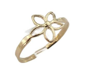 Gold filled Ring, Flower Ring, Simple Ring, Gold Ring, 14k Gold Filled Ring , Delicate Ring, Birthday Gift, Gift For Her size 6