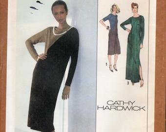 1970s Colorblock Dress Pattern - Vintage Simplicity 9135 - Size 16 Bust 38 UNCUT FF by Cathy Hardwick