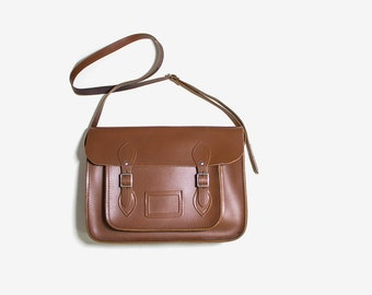 Cambridge Leather Satchel / Brown Leather Satchel / Leather Messenger / Leather Saddle Bag