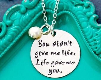 Stepmom Gift Stepmother Necklace Mother Daughter Gift • Adoption Stepmother Quote Necklace • Step Parent Gift Necklace Stepmom