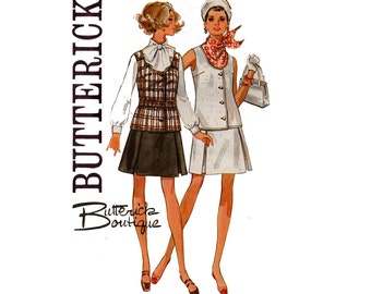 Butterick 5346 60s Tunic Top & Inverted Pleat Skirt Butterick Boutique Sewing Pattern Size 10 Bust 32 1/2 inches