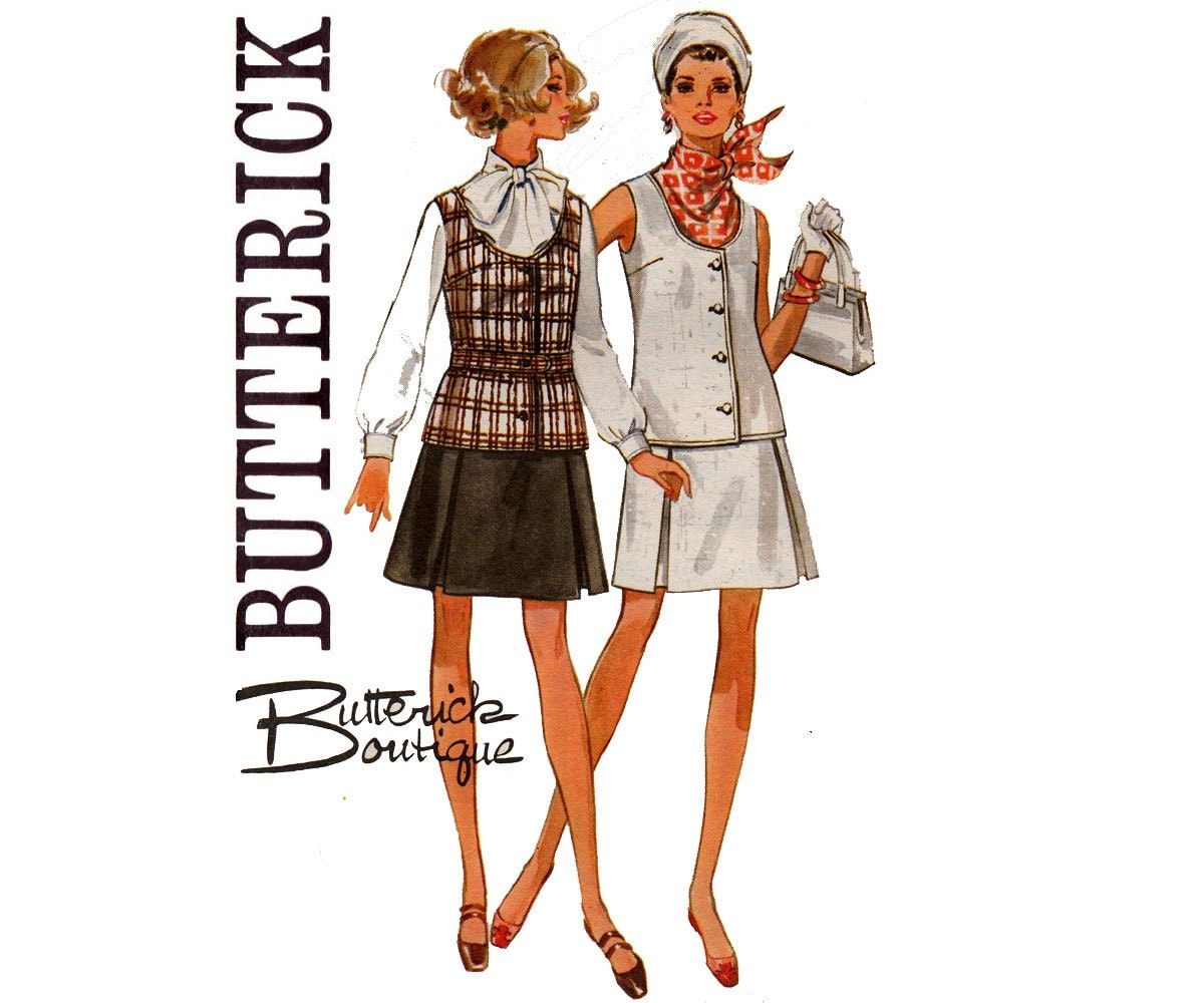 Butterick 5346 60s tunic top inverted pleat skirt butterick sold by allthepreciousthings jeuxipadfo Image collections