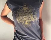 Harvest Snake Lunar Cycle Cap Sleeve Women's T-Shirt