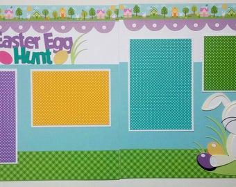 Easter scrapbook page - Scrapbook Easter - Easter egg hunt - Easter eggs - Easter Bunny - Kids Easter scrapbook - Grandkids Easter - Easter