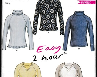 New Look 6143 Easy 2 Hour Pullover Tops