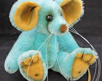 Sky a Traditional Mousebear, a OOAK mohair Artist Bear from Bears of Bath  5.5 inches