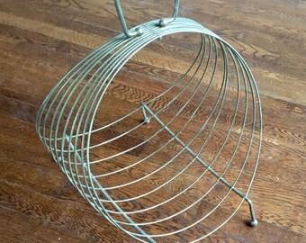Mid Century Wire Metal Magazine Rack
