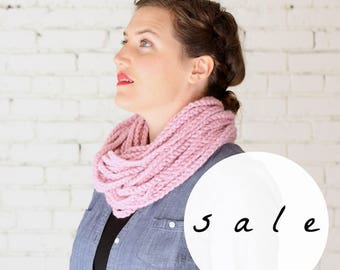 LAST CHANCE SALE | The Skipjack Cowl in Blossom | Chunky Knit Infinity Rope Loop Cowl Scarf