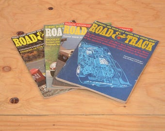 Vintage Set Of Four 1967 Road & Track, Classic Collector Car Magazines