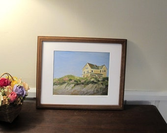 Avonlea of Block Island, Print With 11 x 14 inch Mat, Ready to be framed