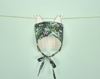 Spring Kitten Bonnet - 6 & 12 months Baby Bonnet