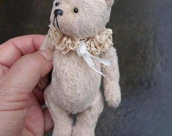 Let Me Be Your Teddy bear, Miniature Viscose Artist Teddy Bear by Aerlinn Bears