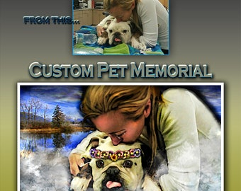 CUSTOM, Personalized, ANY Theme, Pet Memorial, Tribute, Sympathy, Memorial, Miss You, RIP, Rainbow Bridge, Remembrance, Collected Artist