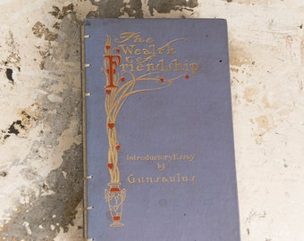 1909 FRIENDSHIP Vintage Grid Lined Notebook Journal