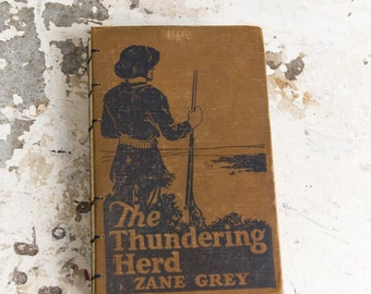 1925 THUNDERING HERD Vintage Lined Notebook Journal
