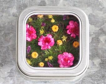 Flower Garden Magnet, Miniature Garden Magnet, Mini Garden, Kitchen Garden, Flower Magnet, Flower Kitchen Decor, Garden Kitchen Décor