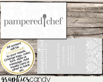 Pampered Chef Independent Consultant Business Card Design - Business Cards - Multi Level Marketing - MLM - Free Shipping USA ONLY!
