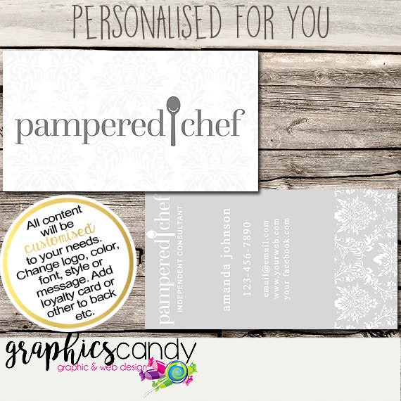 Pampered chef independent consultant business card design business il570xn reheart Gallery