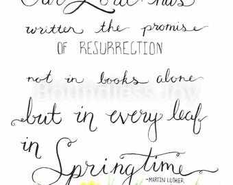 Springtime Crocus Watercolor Print - Martin Luther Quote