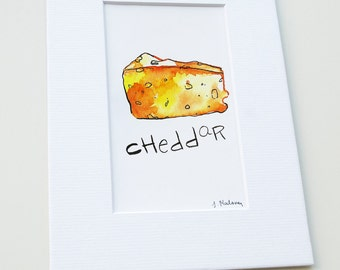 Cheddar Cheese - Mix & Match Mini Print - Watercolor Fine Art Print - Wall Art - Kitchen - Home Decor Accent