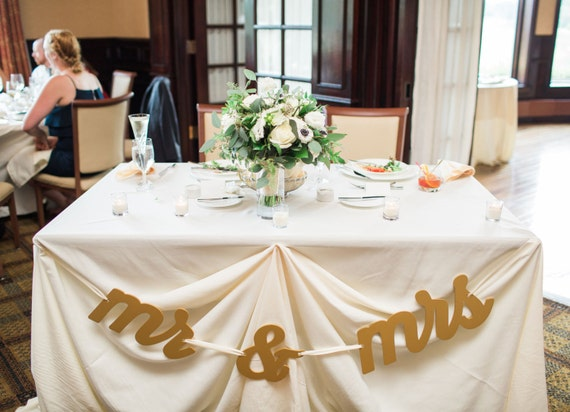 Mr and Mrs Sign for Wedding Table or Photo Prop Table Signs