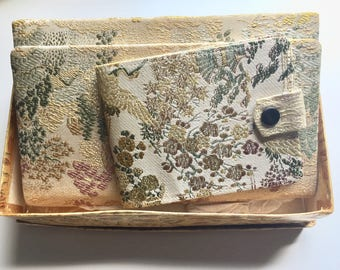 RARE and WONDERFUL - ORIGINAL M. Yamamoto - Silk Handbag and Wallet