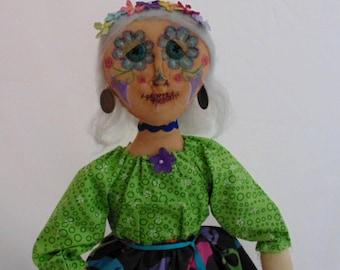 Day Of The Dead Doll Folk Art