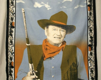 70's era John Wayne Duke True Grit Spaghetti Western The Searchers cowboy classic film actor cotton wall carpet hanging tapestry