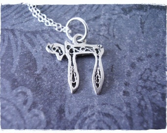 Tiny Silver Chai Symbol Necklace - Sterling Silver Chai Charm on a Delicate Sterling Silver Cable Chain or Charm Only