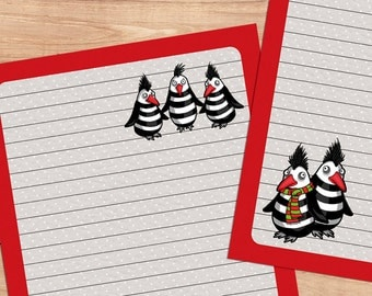 The Great Penguin Escape - A5 Stationery - 12, 24 or 48 sheets
