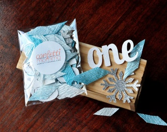 Winter Onederland Party Decorations. Handcrafted in 2-5 Business Days. Baby Blue & Silver Party ...